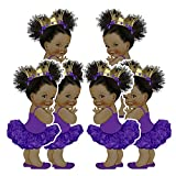 Purple Princess Party Cutouts, African...