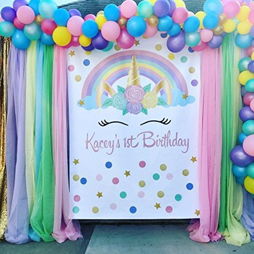 Photo Booth backdrop DIGITAL Backdrop Personalized Unicorn Backdrop Unicorn Party Backdrop