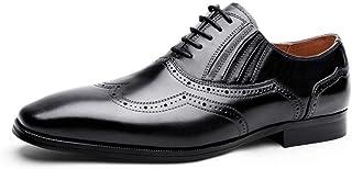 Kirabon Zapatos de Cuero Zapatos de Caballero Vestido de Negocios para Hombres Zapatos de Boda Juveniles (Color : Negro, Size : 47)