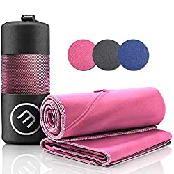Microfiber towel set: quick drying, compact, light + bag | Microfibre towels large & small: camping fitness sports outdoor hair face bath towel, sports towel travel towel beach towel