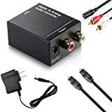 DazzelOn Digital SPDIF Optical Coax to Analog RCA Stereo Audio Converter Adapter