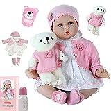 ZIYIUI 55 cm Muñecos Bebé Reborn Muñeca Niña Ojos Cerrados Bebe Realista Baby Doll Silicona Vinilo Dormir Toddler Juguetes