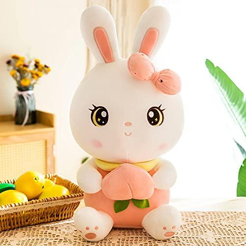 Lulihhhh 50-100 cm Lindo Conejo melocotón Juguete Conejo Blanco muñeca Conejo muñeca de Trapo de Felpa muñeca Regalo de cumpleaños 50 cm Conejo