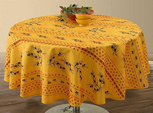 Provencestoffe.com Ovale Tischdecke, 240x150 cm, Antitache, Lotuseffekt, schmutz und wasserabweisend