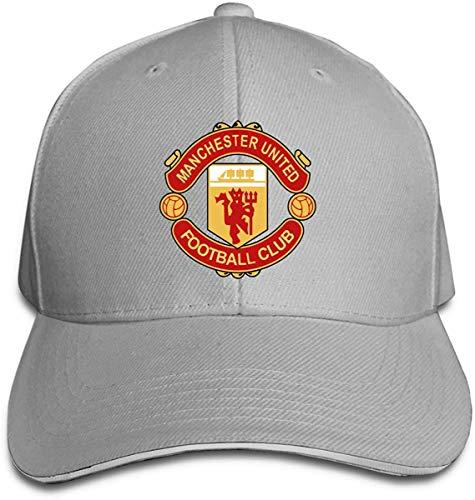 NJAAN Women's Men's Manchester United Adult Adjustable Sandwich Cap