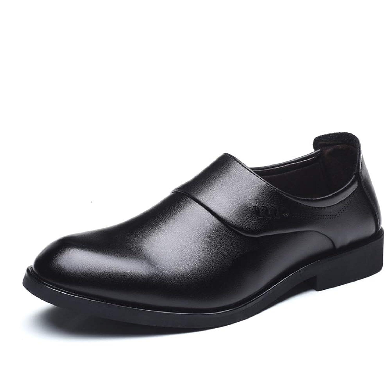 メンズシューズ メンズフォーマルシューズビジネスオックスフォードカジュアル快適なファッションクラシック英国スタイルスリップオンフォーマルシューズ 通気性 (Color : ブラック, サイズ : 24 CM)