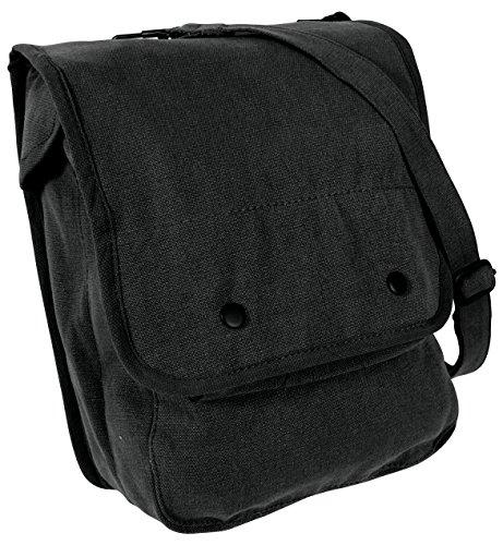Rothco Canvas Map Case Shoulder Bag, Black
