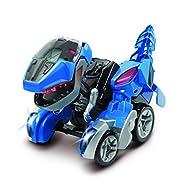VTech Switch & Go Dinos: Commander Dash the T-Rex Kids Toy, Interactive Preschool Dinosaur Toy that ...