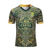 YINTE 2020 Sudáfrica Springboks 7s Copa Mundial De Rugby 2019 De New Jersey Algodón Camiseta Gráfica 100th Anniversary Edition Ventiladores Las Camisetas De Manga Corta De XXL