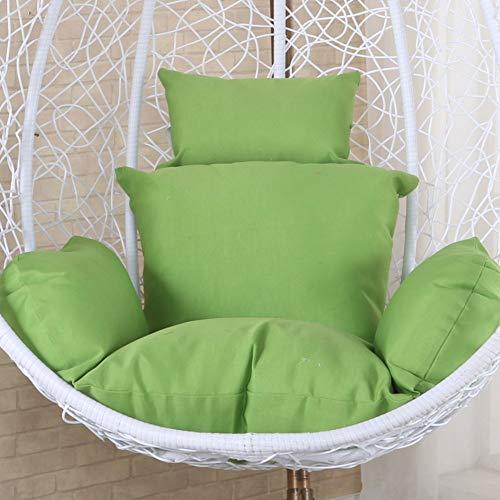 qwert Coussins de Chaise hamac Oeuf Suspendus sans Support, siège pivotant rembourré en Polyester épais Maison nid Chaise Suspendue avec Oreiller-Vert