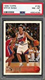 Steve Nash 1996 Topps Basketball Rookie Card RC #182 Graded PSA 8. rookie card picture