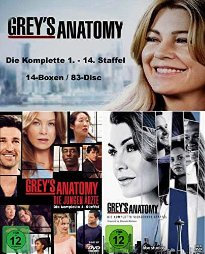Grey´s (Greys) Anatomy - Die komplette Staffel/Season 1-14 [DVD] 83-Disc