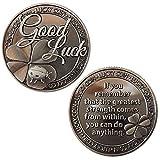 Lucky Coin Good Luck Sentimental Good Luck Coins Engraved Message Keepsake Gift Set Charm