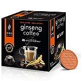 Café al Ginseng - 5 paquetes de 10 Cápsulas compatibles con Lavazza* A Modo Mio®* (50 cápsulas)
