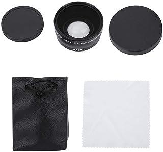 ANGGREK Wide Angle Lens Universal 0.45x 55mm Metal Wide Angle Macro Conversion Lens for DSLR SLR Cameras