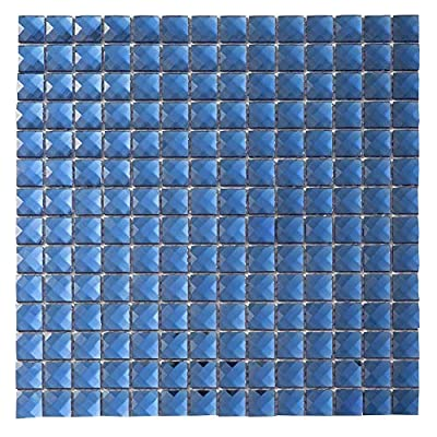 Diflart Mirror Glass Mosaic Tile Crystal Diamond Mosaic Tile
