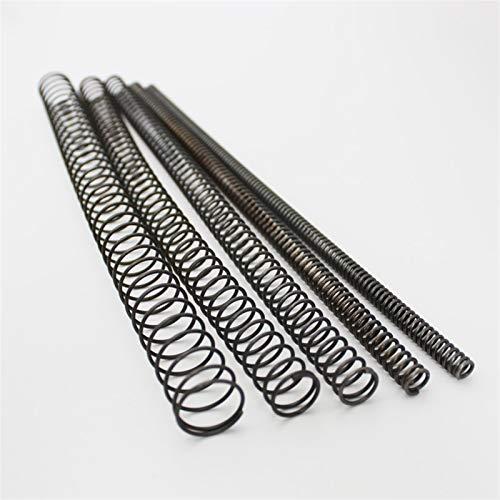 Ruirli-Kits de muelles Primavera de compresión larga de acero, longitud de 300 mm de diámetro de alambre de 0,9 mm de diámetro exterior de 6 mm a 14 mm de resorte de bobina, for industrial Resistente