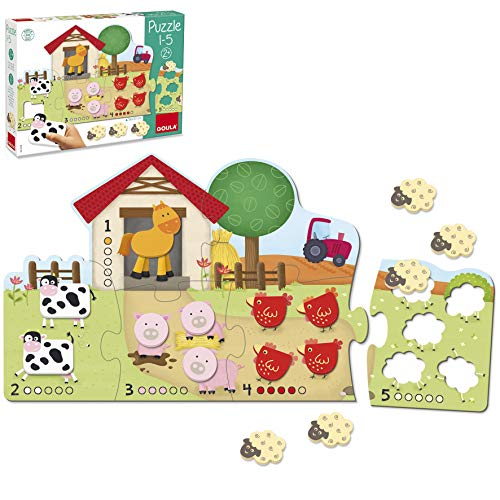 Goula Puzzle madera infantil aprender contar 1-5