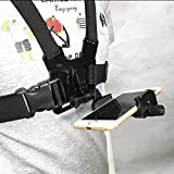 R&R Supplys - GoPro & Phone Chest Mount Combo - Compatible with Samsung, iPhone and GoPros - Adjustable Straps fit All