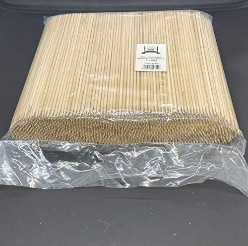 Gastro Spieße aus Holz, spitz zulaufend, 15 cm, 18 cm, 20 cm, 25 cm, Schaschlikspieße, Obst, Schokolade, Fondue-Stäbchen, 180 mm, 1000 Stück
