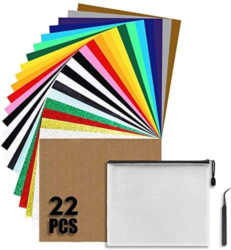 22 Stück Textilfolien Transferpapier Wärmeübertragung Vinyl 12
