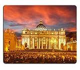 Rael Esthe Alfombrillas De Raton Basilica di San Pietro contra Puesta del Sol Colorida en el Vaticano Roma Italia