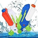 MOZOOSON Jouets pour Enfants de 3 4 5 6 Ans, 2 Pistolets à Eau avec 1L Capacité, Super Water Gun avec Une Longue Portée de Tir de 10M pour Les Garçons Filles, pour L'été