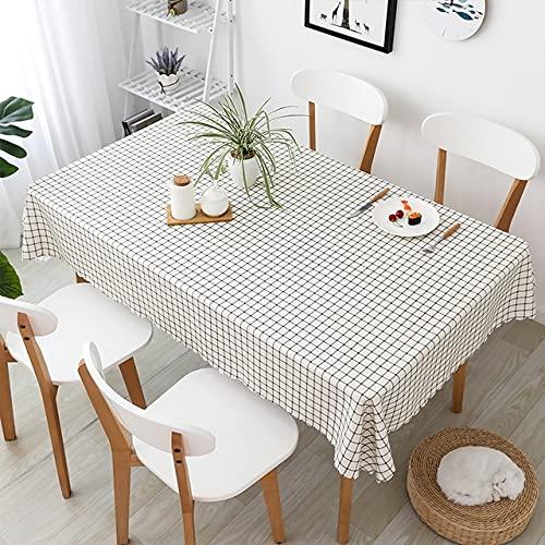 Mantel de lino de algodón nórdico INS Home moderno y simple mesa de comedor rectangular para decoración de fiesta de café, mantel MHFG, 280 x 150 cm
