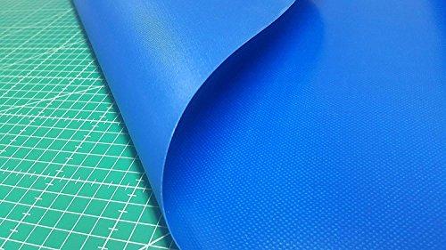 Kadusi Bâche en PVC Bleu pour auvents, fermetures, camping, rideaux, etc. Largeur 150 cm Vendu au mètre
