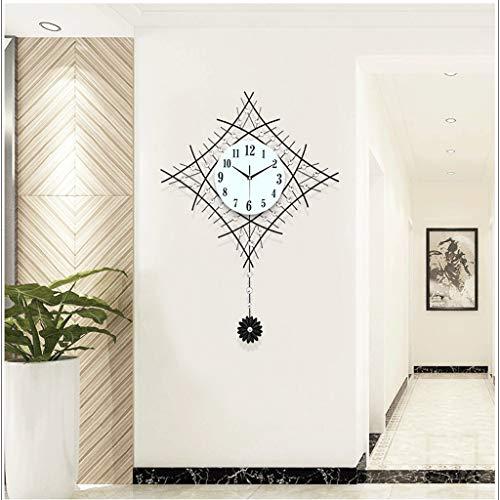 Horloge Créative Horloge Murale Salon Moderne Simple Horloge Européenne Horloge Murale Chambre Lumineuse Horloge À Quartz Calme