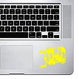 stickany Palm Serie Angelrolle Aufkleber für MacBook Pro, Chromebook, und Laptops (Standard) Gelb...