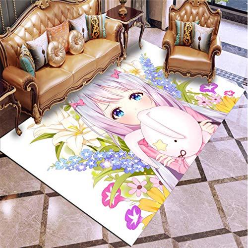Haiqings Ero Manga-Sensei Masamune Izumi Alfombra de Piso Grande Felpudo Alfombra Sala de Estar Alfombra Antideslizante alfombras de Juego de Anime 180x280cm