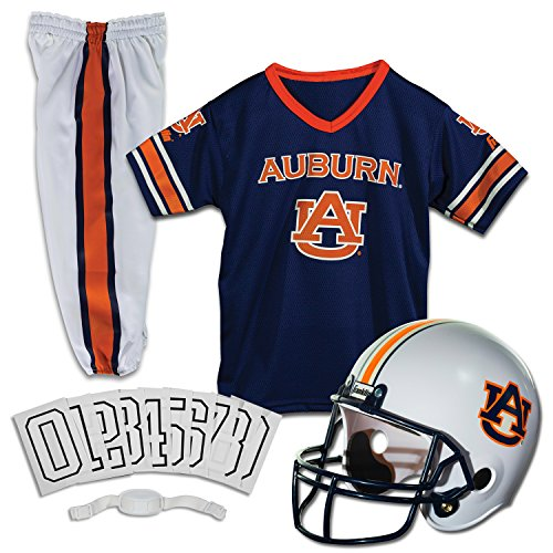 Franklin Sports NCAA Auburn Tigers Kids College Football Uniform Set - Youth Uniform Set - Includes Jersey, Helmet, Pants - Youth Medium