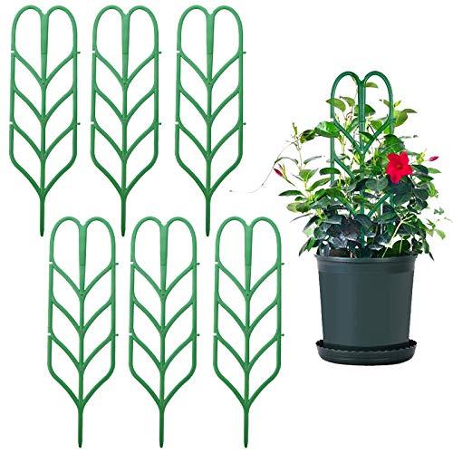 Estacas de Planta Trepadora Soporte Enrejados de Jardín Para Mini Plantas Trepadoras Vegetales Flores Enrejado Soporte 6 Piezas para mini macetas de escalada de soporte de hojas enrejado(Verde)