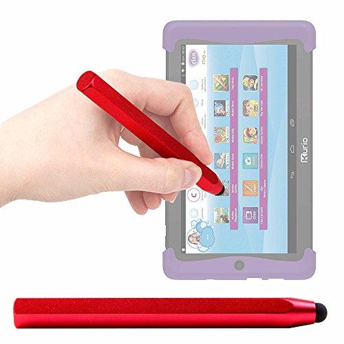 DURAGADGET Lápiz Stylus Rojo para Cefatronic - Tablet Clan Motion Pro - con Un Suave Puntero De Goma