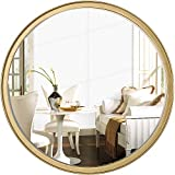 Round Gold Wall Mirror 18' for Vanity Bathroom Bedroom Entry Dining Room Living Room Wall Decor, Large