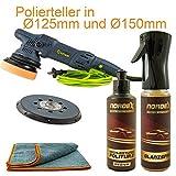 Titan_ Poliermaschine Exzenter Set 1050W inkl. 2 Teller + Zubehör 15mm Hub TDA15