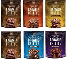VARIETY PACK: Brownie Brittle delivers rich brownie taste with a crisp cookie crunch! This variety pack includes 1 bag of Salted Caramel, Toffee Crunch, Chocolate Almond, Dark Chocolate Sea Salt & 2 bags of Chocolate Chip. THIN, LIGHT & CRISPY: At 12...