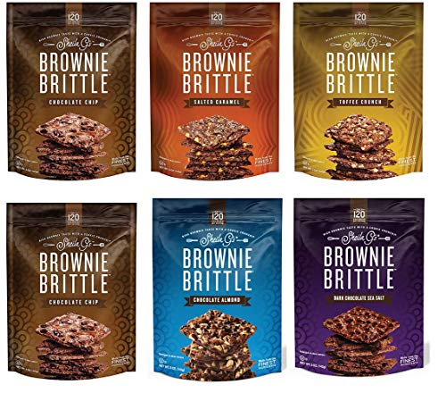 Sheila G's Brownie Brittle, Variety Pack, 5 Ounce Bag (Pack of 6) (Packaging May Vary)