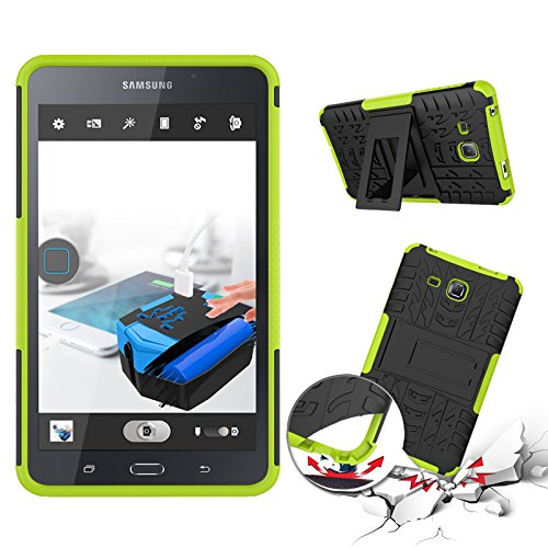 High Grade Duurzaam Materiaal Tablet Cover Hot Koop Nieuwe Dual Layer Hybrid Armor Case Afneembare [Kickstand] 2 in 1 Personality beschermhoes Shockproof Tough Rugged Case Cover for Samsung Tab een 7,
