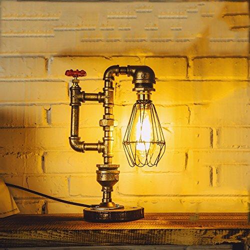TOYM UK Américain vent industriel créatif lampe à eau lampe de chevet