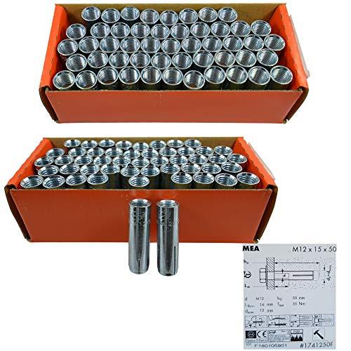 M12 Befestigungsdübel Beton für Kernbohrständer wahlweise 25-100 Stück