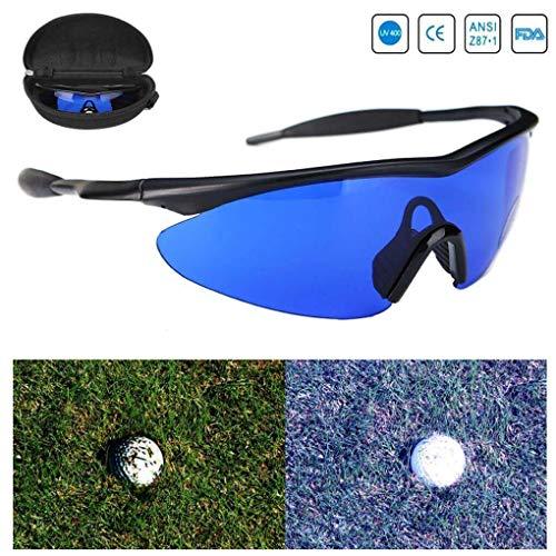 Golf Ball Finder Locating Bril Blauw Lens Minder Straining Zonnebril bril bril met doos