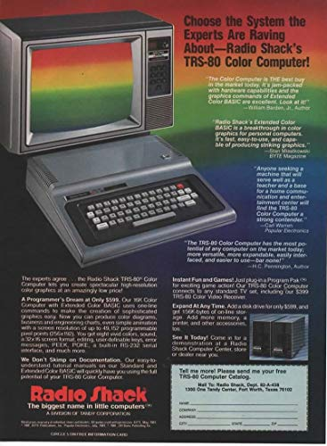 Magazine Print ad: 1981 Radio Shack TRS-80 Color PC Personal Computer,'Choose the Systems the Experts Are Raving About.'