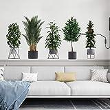 Pegatinas De Pared Pegatinas De Pared Creativas 3D Plantas Verdes En Macetas Tridimensionales Sala De Estar Decoración De Fondo Pegatinas-Photo Color