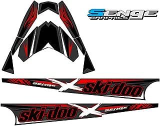Compatible with Ski Doo 2013-2016 Rev XS (2-Stroke) Savage Black 154 Inch Tunnel Wrap Kit