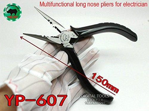 Japan Rhino Marke yp-607Multi Werkzeug 150mm lange Nase Zange Super Hard Tip gezahnt für Angeln Crimpzange Schneiden Reparatur Armbanduhr