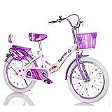 Axdwfd Infantiles Bicicletas Bicicletas para niños 16/18/20 Pulgadas, Bicicleta para niños de Acero Altamente Carbono con Regalo de la Rueda de Entrenamiento Durante 5-14 años