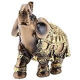 Mugast Figura de Elefante, Feliz Feng Shui, Hecha de Resina, simboliza la Suerte en un Regalo Chino, salón Exquisito Acabado decoración,...