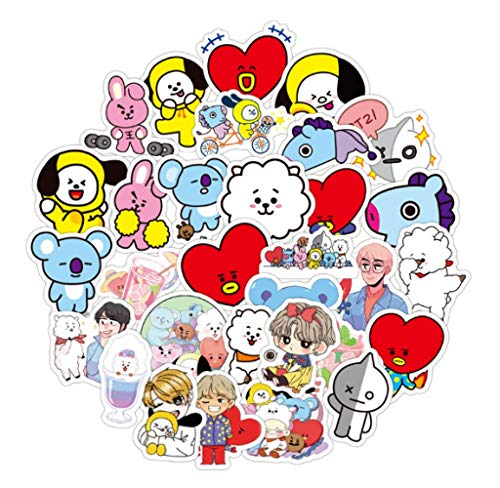 Cartoon Q Version of The Korean Version of The Combination of Men's Team Stickers Suitable for Computer Guitar Refrigerator Suitcase Stickers 60Pcs